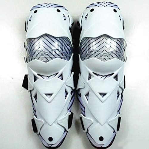 LilyAngel オートバイの膝パッド大人の通気性調節可能なアラミド繊維モトクロスMTB新ガードサイクリングスケーティング (Color : ホワイト)