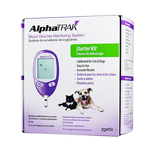AlphaTRAK 2 Veterinary Blood Glucose Monitoring Meter - Test 90 Caps Alpha