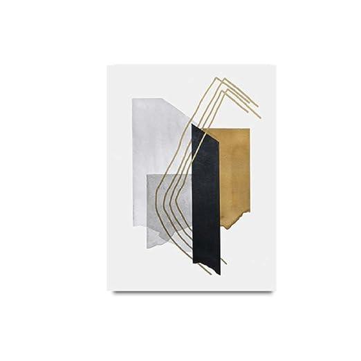 Moderno abstracto geométrico lienzo pintura oficina pared ...