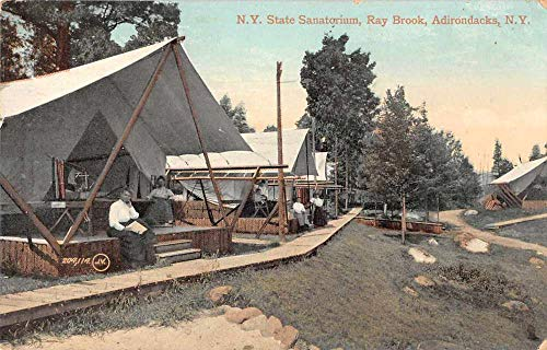Ray Brook New York State Sanatorium People in Tent Antique Postcard J80978
