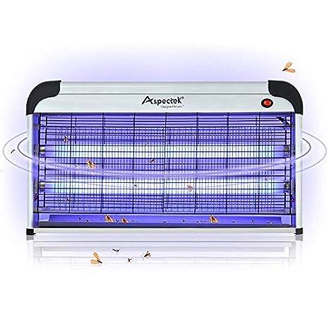 ASPECTEK - Insecto electrónico Profesional para Interiores, Insectos, matamosquitos y Moscas, Bombillas UV de 30 W para Uso doméstico y Comercial