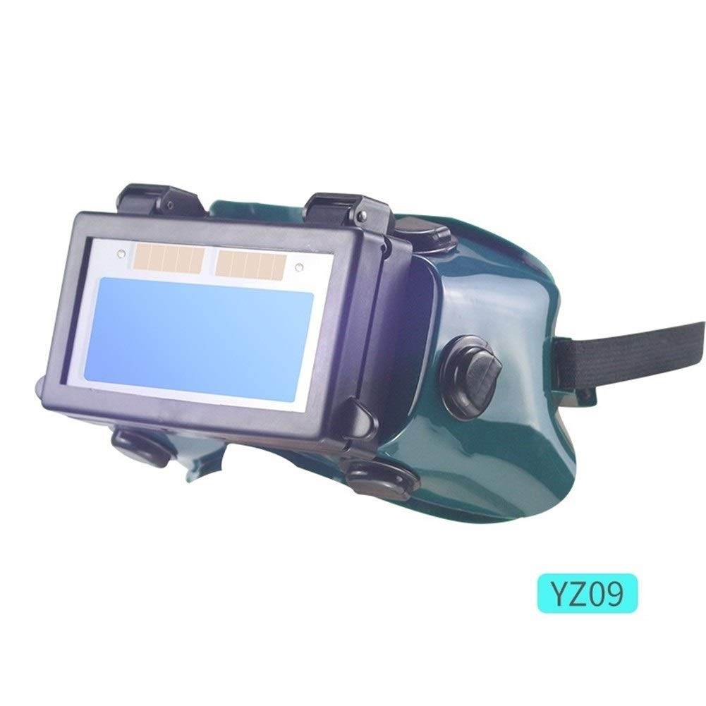 YUANYUAN521 Solar Auto Darkening Welding Mask Welding Helmet Eyes Goggle/Welder Glasses Arc Protection Helmet for Welding Machine/Equipment (Color : YZ09) by YUANYUAN521