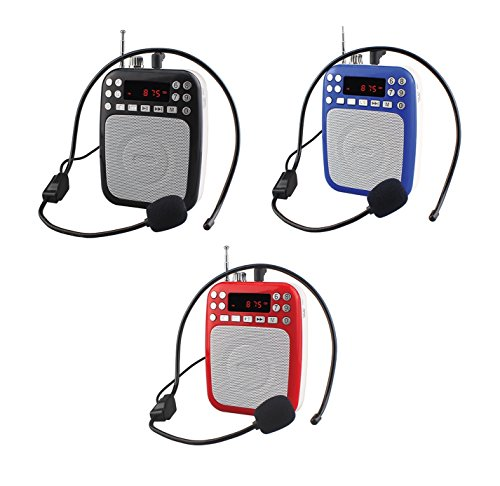 Supersonic SC-1397 Rechargeable Voice Amplifier LED Display/Bluetooth/FM/USB/SD In