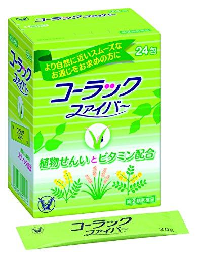 [변비약 코락쿠] 【지정제2 유의약품】콜락 화이버(fiber) 24봉지 [변비약 슬림락정]