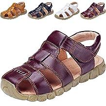 DADAWEN Boys Girls Closed Toe Outdoor Sandal (Baby boy/Toddler/Little Kid/Big Kid)