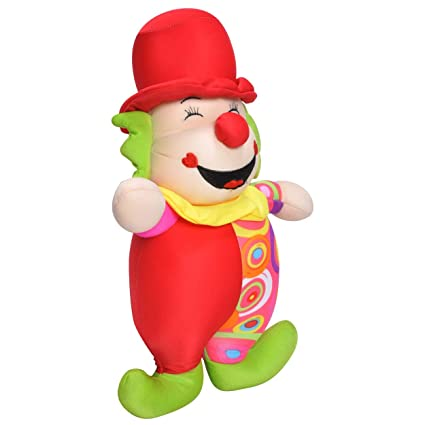 LITTLEBUDDY Happy Clown Multi-Colour Stuffed Soft Plush NEON Colour Toy