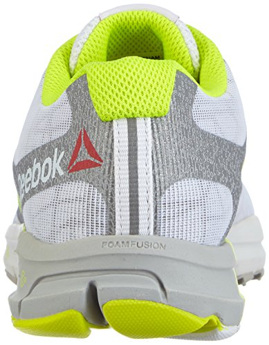 Reebok One Cushion 2.0 City Lights - zapatillas de running de material sintético mujer multicolor - Mehrfarbig (White/Silver Met/Solar Yellow)