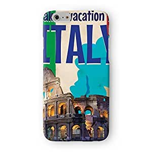 Italy Full Wrap High Quality 3D Printed Case for Apple? iPhone 6 by Nick Greenaway + FREE Crystal Clear Screen Protector