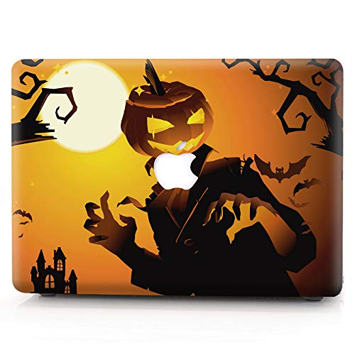 Hard Case Compatible MacBook 12 Inch Case with Retina Display Model A1534 (Newest Version 2017/2016/2015), AJYX Halloween Pattern Matt Plastic Hard Shell Case Cover, WSJ8 Pumpkin Devil]()