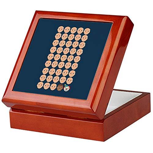 CafePress Emoji 45Th President Keepsake Box, Finished Hardwood Jewelry Box, Velvet Lined Memento Box ()