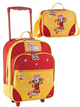 Koffer-Experte Cherry Girl Ensemble de sacs à roulettes 2 pièces pour enfant m8glhB