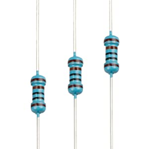 EDGELEC 100pcs 1K ohm Resistor 1/4w (0.25 Watt) ±1% Tolerance Metal Film Fixed Resistor, Multiple Values of Resistance Optional