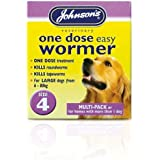 Johnson's One Dose Wormer for Dogs and Puppies, 6 - 80 kg