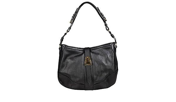 47fa013c5cf Amazon.com  Burberry Bartow Black Grainy Leather Hobo Bag 3764088  Shoes