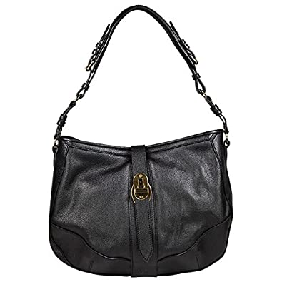 686d7e78e98 Image Unavailable. Image not available for. Color  Burberry Bartow Black  Grainy Leather Hobo Bag 3764088