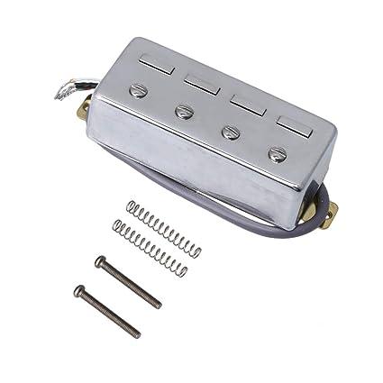 BQLZR - 4 pastillas humbucker de 83 mm de largo, 4 alambres para bajo eléctrico