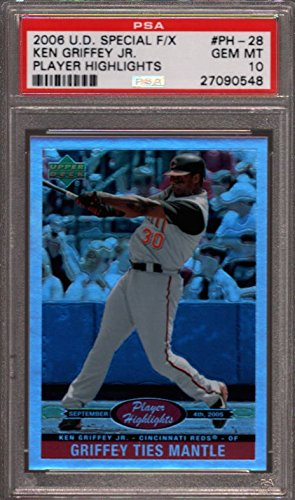 2006 UPPER DECK SPECIAL F/X #PH-28 KEN GRIFFEY JR. HOF POP 3 PSA 10 B2437185-548