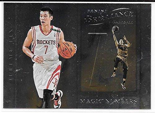 Jeremy Lin 2012-13 NBA Panini Brilliance Magic Numbers Houston Rockets Insert Card #13 (Panini Numbers Brilliance Magic)