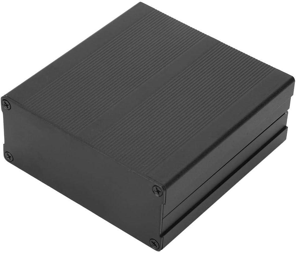 Placa de Circuito Impreso de Aluminio Negro Mate Caja de Instrumentos Caja del Proyecto electr/ónico Nikou Caja de Instrumentos