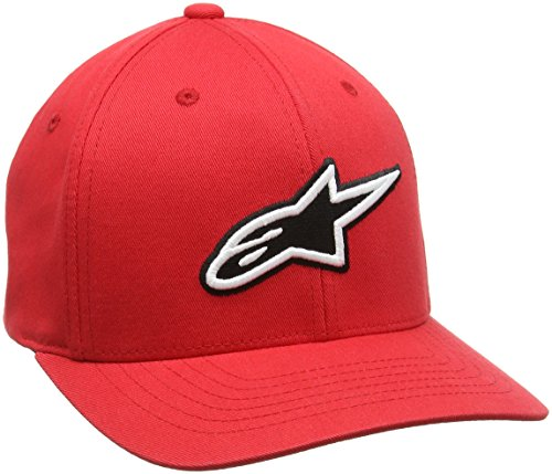 - Alpinestars Men's Curved Bill Structured Crown Flex Back 3D Embroidered Logo Flexfit Hat