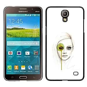 EJOY---Cubierta de la caja de protección para la piel dura ** Samsung Galaxy Mega 2 ** --Pintura Mujer Fashion Art