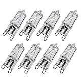 GMY Lighting G9 Halogen Bulbs Clear Capsule 28W 8Pack 230V 370Lm 2800K Warm White