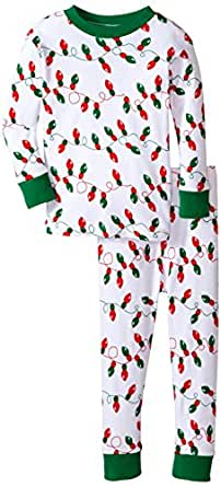 New Jammies Big Boys' Snuggly Pajama, Christmas Lights, 8