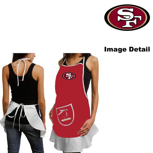 San Francisco 49ers Kitchen Home Outdoor Indoor BBQ Picnic Woman Lady Girl Hostess Apron