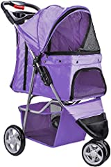 Don't leave your pet at home. Take her outside to enjoy a beautiful day. These Strollers are sturdy, safe, and comfortable to use for both your pet and you. Take your pet to shopping, walk down the block, and go jogging in the citrus. Our Str...