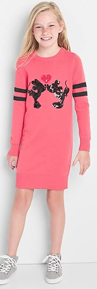 84200e36 Amazon.com: GAP Kids Girls Disney Mickey & Minnie Mouse Pink Sequin Sweater  Dress Medium 8: Clothing
