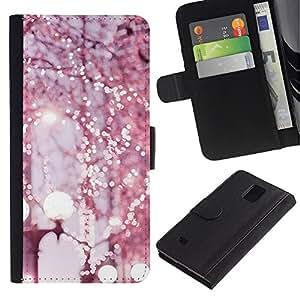 Samsung Galaxy Note 4 IV / SM-N910 Modelo colorido cuero carpeta tirón caso cubierta piel Holster Funda protección - Lights Photo Art Street City