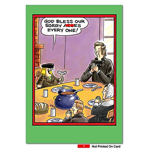 B5740 Box Set of 12 Bless Our Asses Christmas Cartoon Humorous Christmas Greeting Cards; with Envelopes ()