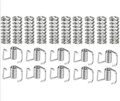 20 Pack 3D Printer Extruder Spring, Timing Belt Tensioner Torsion Spring Set - Heated Bed Compression Spring 7.5mm x 20 mm,Torsion Spring for the belt width 6mm