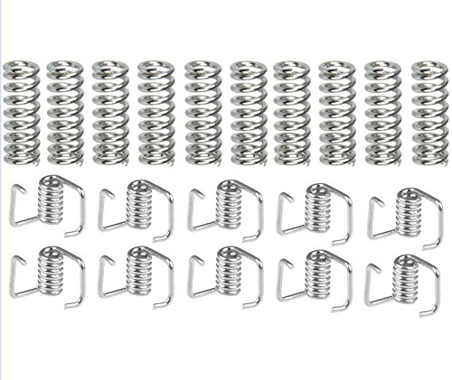 20 Pack 3D Printer Extruder Spring, Timing Belt Tensioner Torsion Spring Set - Heated Bed Compression Spring 7.5mm x 20 mm,Torsion Spring for the belt width 6mm