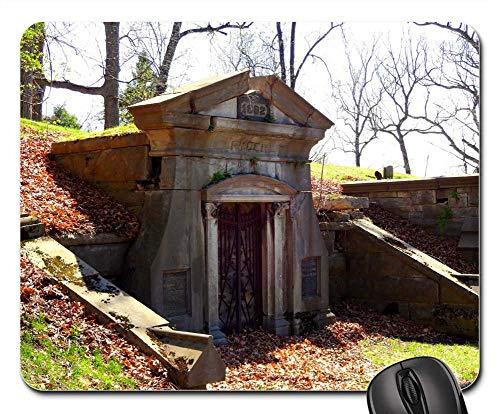 Mouse Pad - Cemetery Graveyard Halloween Grave Mausoleum
