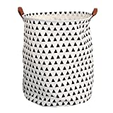 Storage Bins,Pawaca Large Sized Cotton/Canvas Storage Baskets & Toy Organizers for Boys and Girls & Laundry Baskets & Baby Clothing, Collapsible(Small Triangles)