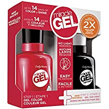 Sally Hansen Miracle Gel Nail Polish, Red Eye Duo Pack, 1 Ounce
