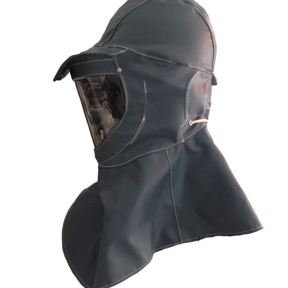 DRSMDR Protección de Las Flores de ácido y álcali Capucha 1083 antiséptico chapoteo Polvo Capucha Seguro de Trabajo máscara de protección contra el Polvo,Negr