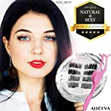 Aliceva Magnetic Eyelashes x8 [Neat & Elegance] for Natural Look - New Premium Magnet Quality/Best 3D False Reusable Eyelash 8 piece + Magnet Dot Case + Metal Eyelash Tweezers
