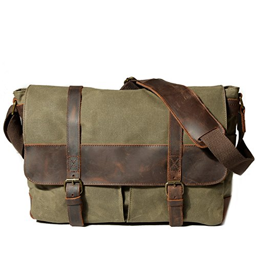 Frazill Multifunction Cross Body Army Shoulder Mu1693 Boys Camera Schoolbags Green Men's Messenger Laptop Bag YqvXrYw