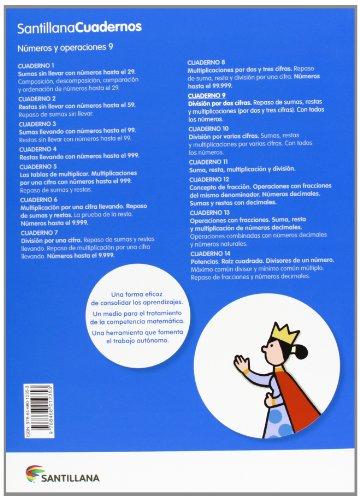 NUMEROS Y OPERACIONES 9 SANTILLANA CUADERNOS - 9788468012353