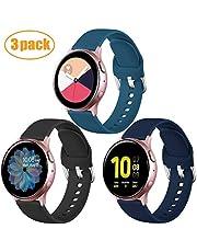DGege Bands Compatible with Samsung Galaxy Watch 42mm/Samsung Galaxy Watch Active/Active2 40mm/44mm, Replacement Strap Compatible with Samsung Galaxy Gear Sport, Black, Blue, Indigo, Large
