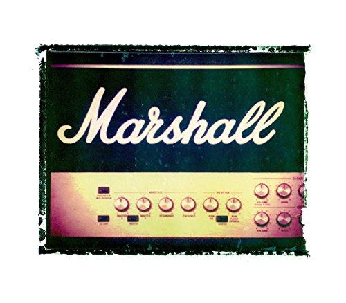 Marshall Rock Amps (Vintage Marshall amp Guitar art music print / Guy Gift / Rock n roll art / music gift idea)