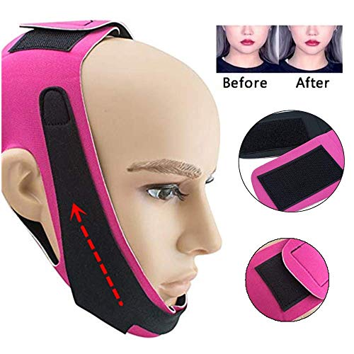 Thin Face Bandage Face Slimmer Get Rid Of Double Chin Create V-Line Face Shapes Chin Cheek Lift Up Anti Wrinkle Lifting Belt Face Massage Tool for Women and ()