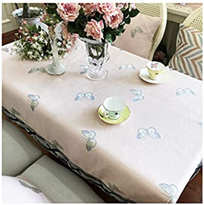 Sgli Pink Jacquard Table Cover Square Coffee Table Cloth Multi