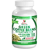 Natural & Herbal Appetite Suppressant Green Coffee Beans Extract 45% CGA ~ Enhanced with Anti-Oxidant Green Tea Extract 50% EGCG ~ 120 capsules per bottle ~ 40-Day supply with 3 capsules per day ~ Safe Appetite Control for Natural Weight Loss