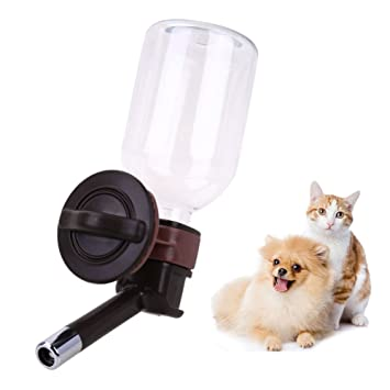 Domybest Dispensador de agua para mascotas, para perro, gato, fuente de agua de acero inoxidable: Amazon.es: Productos para mascotas