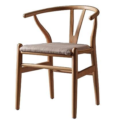 Amazon.com - Dining Chairs Household Fabric Cushion Chairs ...