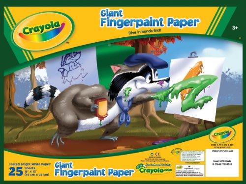Jumbo Finger Paint Paper - Giant Fingerpaint Paper Pad 25 pages (40 cm x 30 cm