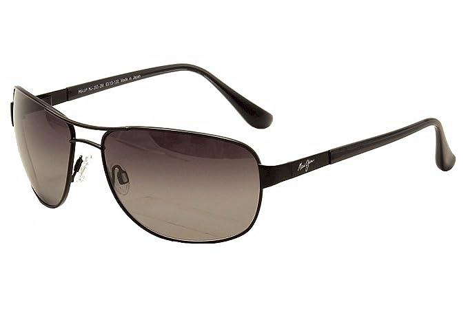 Maui Jim arena isla hs25325 a gafas de sol polarizadas para hombre brillante marrón oscuro